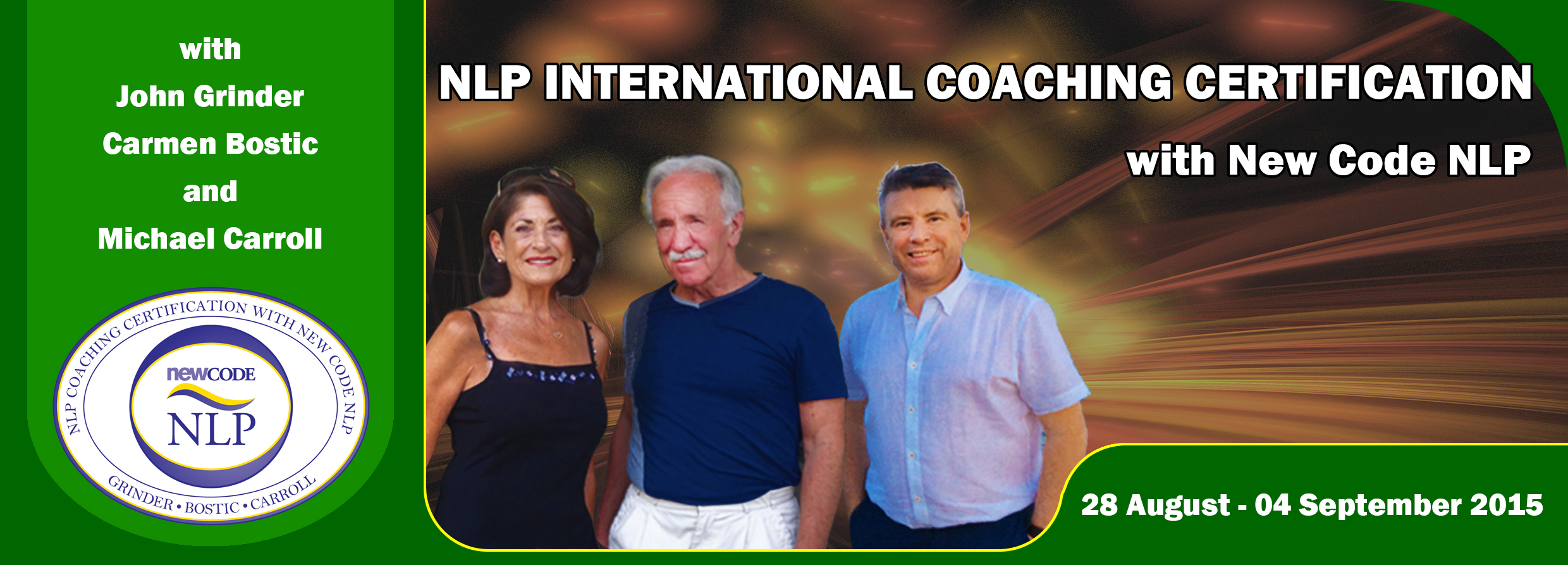 NLP Coaching Certification With New Code NLP